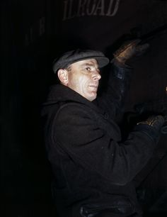 Striking color images capture the grit of 1940s rail workers