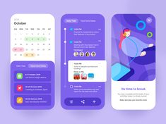UI Design for Calendar Task Manager designed by Habib Al-Hakim. Connect with them on Dribbble; Web Design, App Ui Design, Mobile App Design, Interface Design, Flat Design, Design Layouts, User Interface, Calendar App, Calendar Design