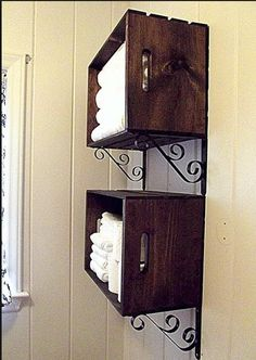 bathroom storage- looks so cute and neat