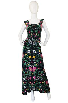 Spectacular Late 1920s, Early 30s Floral Sequin Gown