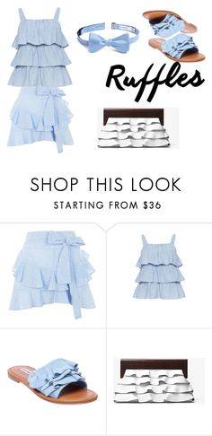 Casual Set #3 by sandstormthenerd on Polyvore featuring Topshop, Steve Madden, Michael Kors, Calibrate and ruffledtops