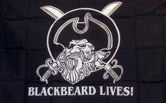 Black Beard Lives 3'x 5' Pirate Flag