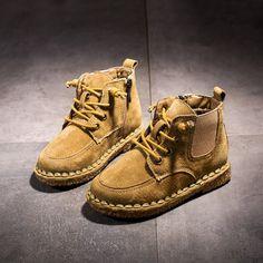 a5b86d69b 2018 Niños Botas Botas de Nieve Niñas Zapatos Impermeables Niños Piel  Engrosada chica Martin Zapatos Calientes Zapatos de Deporte Otoño Niño  Tamaño 26 a 37