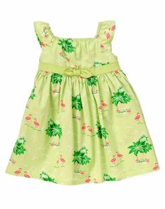 NWT Gymboree FLAMINGO FLAIR 3 6 9 12 18 24mo Flower Garden Bow Dress Baby Girl