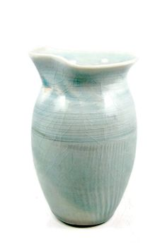 Small Porcelain Pitcher  Delicate Pale Blue Creamer by PatsPottery