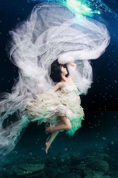 Wedding Photo under water!  Fantastic!