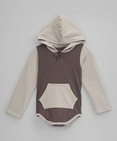 Look what I found on #zulily! Gray Hooded Bodysuit - Infant by Royal Gem #zulilyfinds