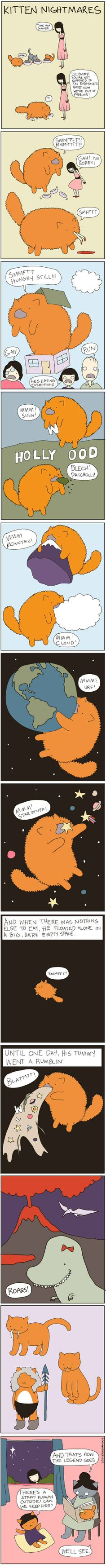 How Cats Plan On Taking Over The Universe Don't feed them too much! A comic strip from Cat Versus Human.