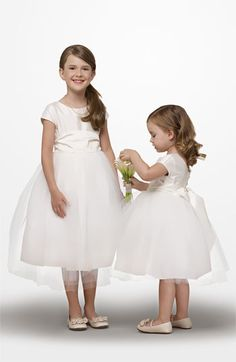 Flower Girls: Us Angels Silk & Tulle Dress @Nordstrom #WeddingSuite #Nordstrom