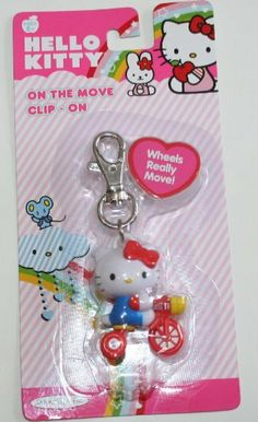 Sanrio Hello Kitty - On The Move Clip-On - RED BIKE by Jakks. $8.99. Hello Kitty On The Move Clip-on Red Tricycle