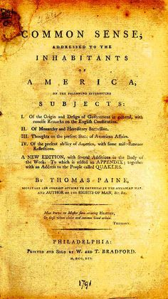 One of the most influential documents written in the US during the struggles with Britain, this pamphlet offers an opportunity for students to read some of the arguments made for separation. We hav...