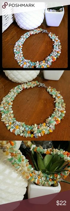 Geourgous handmade shell bead necklace I love this necklace and have one myself. Beautifully handmade with multi colored shells made into beads and crafted into a bib necklace. A must have if you love beach boho jewelry. New and nice quality Jewelry Necklaces