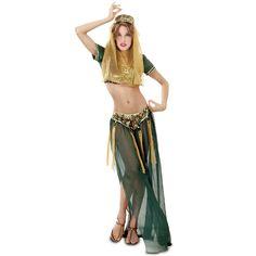 Disfraz de Chica del Harem Verde #disfraces #carnaval