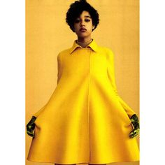 - A yellow allure. Damaris Goddrie, Versace, Silhouette, Fashion Photography, High Neck Dress, Mom, Yellow, Instagram Posts, Color