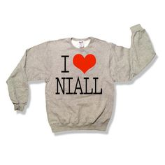 One Direction I Love Niall Horan Oxford Gray Sweatshirt x Crewneck x... ($25) ❤ liked on Polyvore