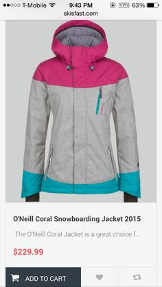 O'neill coral snowboarding jacket