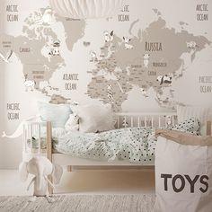 Little Hands Wallpaper Baby Bedroom, Baby Boy Rooms, Baby Room Decor, Girls Bedroom, Little Hands Wallpaper, Kids Decor, Home Decor, Kid Spaces, Room Inspiration