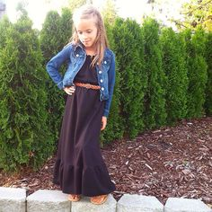Black maxi dress  2T-8, Made in USA, Custom sizing by ChloeBellBoutique,