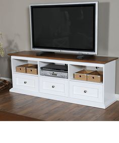oak tv stand with drawers