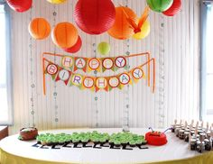 Hungry Caterpillar themed birthday party! Caterpillar Cupcake Cake by Kathy Simon.