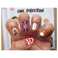 The Best One Direction Nail Art via Polyvore