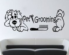 Grooming Salon Wall Decor Quote Pet Grooming Decals Dog Comb Scissors Vinyl Sticker Pet Shop Home Decor Art Mural Dog Grooming Shop, Dog Grooming Salons, Dog Grooming Business, Indoor Dog Park, Baby Room Wall Art, Dog Tumblr, Pet Resort, Dog Wash, Dog Rooms