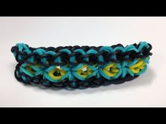 Watch right now as we demonstrate how to make this Brand new exclusive bracelet called the Dream Catcher! Our designer created this exclusively for Bandaloom. Rainbow Loom Tutorials, Rainbow Loom Patterns, Rainbow Loom Creations, Rainbow Loom Bands, Rainbow Loom Bracelets, Loom Band Bracelets, Loom Bracelet Patterns, Friendship Bracelet Patterns, Rubber Band Crafts