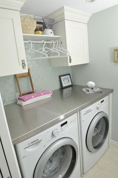 With a Sparkle: Laundry Room Inspiration I have more room than this but I could do something with it