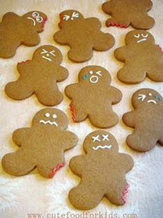 Wounded gingerbread men - macabre? Maybe. Fantastic? Definitely.