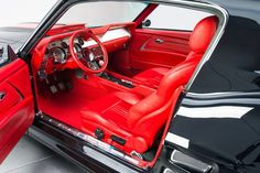 1967 Ford Mustang GT Pro Touring, Here's we found the coolest mustang custom red grey silver black custom interior tiburon