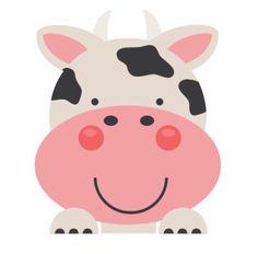 Daily Freebie Miss Kate Cuttables--Peeking Cow SVG scrapbook cut file cute clipart files for silhouette cricut pazzles free svgs free svg cuts cute cut files
