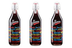 Happy Hour: Merry + bright calligraphic vermouth bottle | AIGA Eye on Design