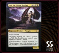 Vish Kal, Blood Arbiter - 2013 Strata Strike Magic the Gathering (MTG) alter. www.stratastrike.com