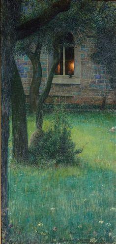 Le foyer,1899 Louis by Welden Hawkins (1849–1910)