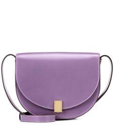 Mini Half Moon Box lilac shoulder bag / Victoria Beckham