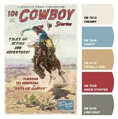 Cowboy Stories Peel and Stick Wall Mural - Kids Wall Decor Store Cowboy Chic, Cowboy Art, Vintage Cowboy Nursery, Vintage Western Decor, Cowboy Bedroom, Western Rooms, Home On The Range, Ranch Style, Baby Boy Nurseries