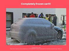 Did Elsa do this to the car? #Frozen #carfail #OMG