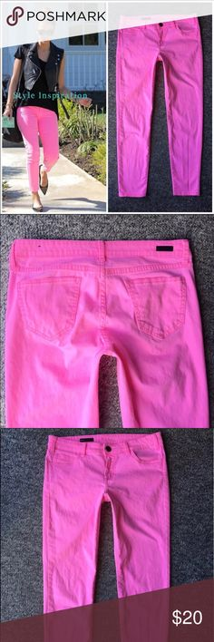 KFTK skinny jeans KFTK Brigitte ankle skinny neon pink pants. I bought on posh and too small and too short for me--so your gain👏🏼😊⭐️ Kut from the Kloth Pants Ankle & Cropped