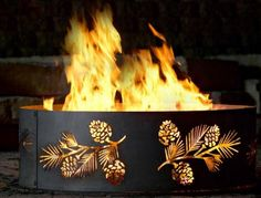 Fire Ring Fire Pit - PD Metal PBFR00930 - Pine and Bough Fire Ring - 30 Inch - Black
