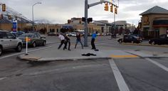 This guy lost a bet so he had to dance on a Provo street corner for 30 minutes.