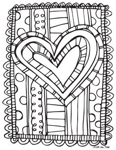 Valentines Coloring Page For Adults And Grown Ups Printable