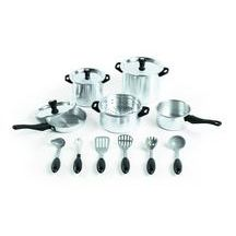 Chef's Quality Aluminum Cookware - 15 Pieces