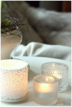 Iittala tealight votives Inside A House, Candels, White Cottage, White Candles, House Interiors, My Dream Home, Floor Lamp, Tea Lights, Lanterns
