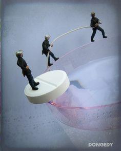 Antiheadache firemen 8x10 diorama surreal photo by Dongedyframe