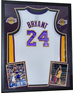 framed jersey of future hall of famer kobebryant of the lalakers