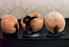 Really, who can resist fried orbs of dough dripping silky smooth chocolate. I mean really?