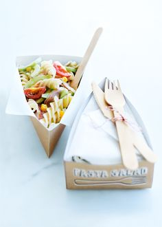 for the lunchbox and picnic basket: turkey and corn pasta salad from donna hay magazine