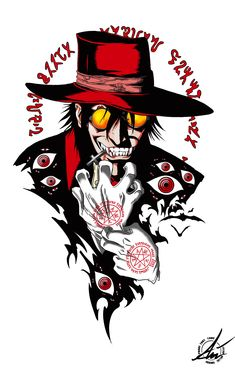 Art of alucard Funny Iphone Wallpaper, Trippy Wallpaper, Otaku Anime, Anime Art, Hellsing Ultimate Anime, Hellsing Alucard, Good Anime Series, Anime Tattoos, Hades