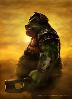 Gamorrean Warrior - Speed painting by MOROTEO56.deviantart.com