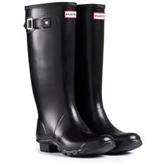 Wide Calf Rain Boots | Wide Fit Rubber Boots | Hunter Boot Ltd ($25) ❤ liked on Polyvore
